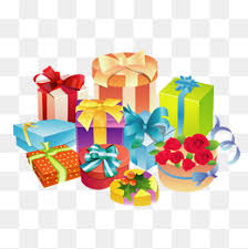 Holiday ts Festival Gift Pile PNG Image