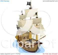 100 Design A Pirate Ship Cartoon Of A View On A Royalty Free Vector Clipart By