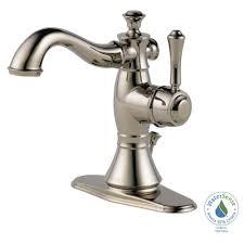 delta cassidy single hole single handle bathroom faucet with metal