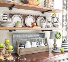 Kichen Shelves Open Rustic Farmhouse Kitchen Shelves Decorated For
