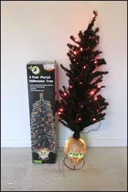 Black And Orange Halloween Lights Astonishing 4 Ft Pre Lit Tree With