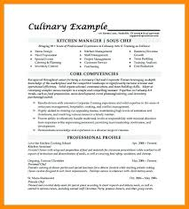 Resume Examples For Kitchen Manager Packed With Chef Frame Awesome Objective 999