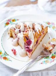 erdbeeren und sahne kaffee kuchen mit vanille