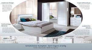 schlafzimmer komplett set e zagori 6 teilig farbe alpinweiß weiß hochglanz