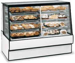 Federal Industries SGR5042DZ High Volume Vertical Dual Zone Bakery Case Refrigerated Left Non