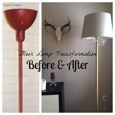 Floor Lamp With Glass Table Attached by Upcycled Diy Chandelier Lamp Chandelier Floor Lamp Floor Lamp