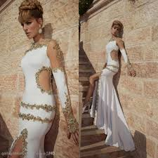 white and gold long sleeve prom dresses naf dresses