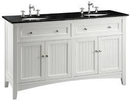 adelina 60 inch cottage white double sink bathroom vanity black