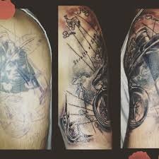 Tattoo Tattooartist Coverup Covertattoo Maptattoo Ocean Compass Compasstattoo