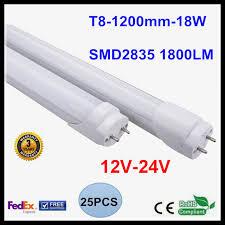 25pcs lot t8 led light 12v 24v 1 2m 4ft 18w led bulb light