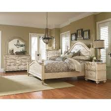 Antique White 6 Piece King Bedroom Set Heritage