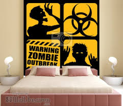 Wall Mural Zombie Outbreak Icons