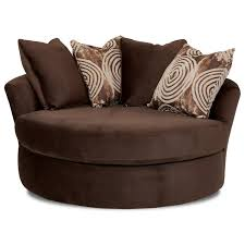athena oversized swivel chair with scattered back pillows by