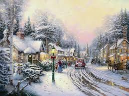 Thomas Kinkade Christmas Tree For Sale by Thomas Kinkade Christmas Village Painting Anysize 50 Off