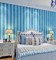 hanmero 0 53x10 mt rolle moderne einfache blau weiß gestreifte tapete wohnzimmer schlafzimmer tapete wandverkleidung qz0530