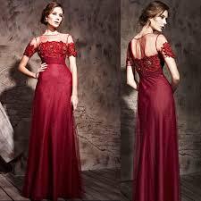 Couture Luxury Burgundy Red Short Sleeve Modern Vintage Formal Evening Gowns Dresses SKU 122422