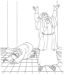 The Pharisee And Tax Collector Coloring Page