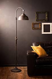 industrielle stehle retro vintage style eisen schwarz metall hohe pipe tap stehendes licht wohnzimmer flur möbel