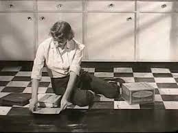 Covering Asbestos Floor Tiles With Ceramic Tile by Vinyl Asbestos Tile Vat 1950s Kentile Youtube