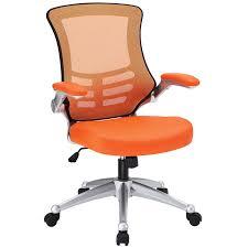 amazon com modway attainment mesh back and orange vinyl modern