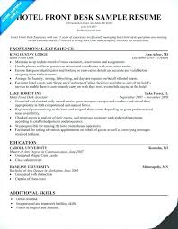 Resume For Housekeeping Job Here Are Housekeeper Sample Hotel Front Desk Travel