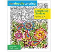 Zendoodle Coloring Enchanting Gardens AdultColoring Book