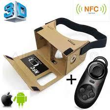 3D Virtual Reality VR Google Cardboard NFC Bluetooth Controller