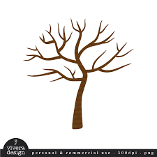 Printable PDF Tree with No Leaves Winter Tree by viveradesign