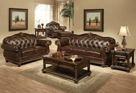 lovable brown leather living room furniture brown living room