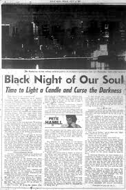 Linden Street Blackout Curtains by Pete Hamill Cursing The Darkness In The Blackout Of 1977 Ny