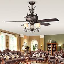 firtha 5 blade antique style 3 light 52 inch ceiling fan free