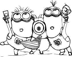 Coloring Pages Printable Minion Halloween Christmas Colouring Page