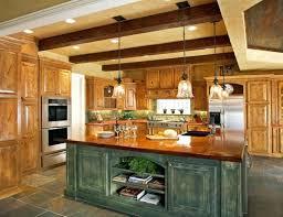 Awe Inspiring Green Kitchen Island Rustic