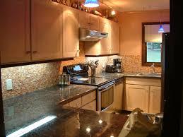 Kitchen Backsplash Ideas With Dark Wood Cabinets by Kitchen Design 20 Photos Pebble Tiles Kitchen Backsplash Soft