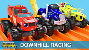 Monster Trucks For Kids - Blaze And The Monster Machines Racing ... 100 Bigfoot Presents Meteor And The Mighty Monster Trucks Toys Truck Cars For Children Cartoon Vehicles Car With Friends Ambulance And Fire Walking Mashines Challenge 3d Teaching Collection Vol 1 Learn Colors Colours Adventures Tow Excavator The Episode 16 Tv Show Monster School Bus Youtube