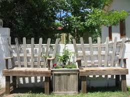 Benches Planter Built From Pallet Wood