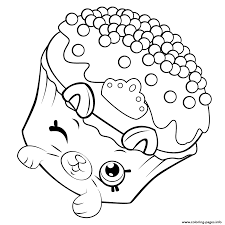 Print Petkins Cupcake Shopkins Season 5 Coloring Pages