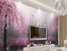 großhandel benutzerdefinierte 3d tapeten wandbilder rosa sternenklarer hintergrund wohnzimmer moderne tapete des schwans see landschaft 3d
