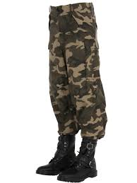 faith connexion oversized camouflage print cargo pants in green