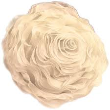 Decorative Couch Pillows Amazon by Amazon Com Ruffled Rose Decorative Pillow Throw Flower Shape