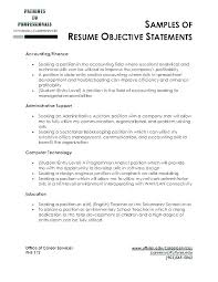 Good Resume Objectives For Preschool Teachers Career Objective Examples Resumes Writing A Obj