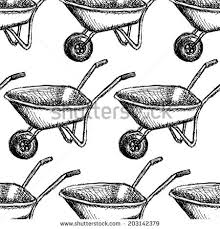 Sketch barrow vector vintage seamless pattern eps 10