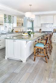 Light Blue Glass Subway Tile Backsplash by Kitchen Style Minimalist Coastal Kitchen With A White Subway Tile