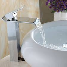 Wall Mounted Waterfall Faucets For Bathroom Sinks by Contemporary Color Changing Led Bathroom And Kitchen Sink Faucet