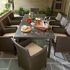 8 Person Outdoor Table by Grand Resort Osborn 9 Piece Rectangular Dining Set Neutral