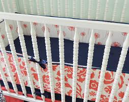 Navy And Coral Crib Bedding by Amazon Com Tushies And Tantrums Boutique Crib Set Coral And