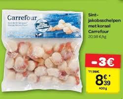 cuisiner les noix de st jacques surgel馥s carrefour promotion coquilles jaques avec corail carrefour