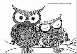 Incredible Cute Owl Coloring Pages Adults With And