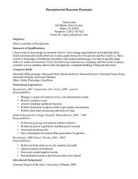 Legal Receptionist Resume Law Firm Sample