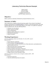 Medical Lab Tech Resume Laboratory Technologist Sample Technician Cv Doc
